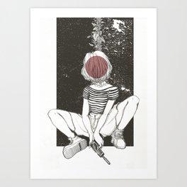 Kill Girl Art Print