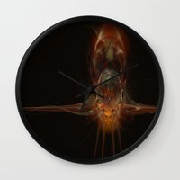squid Wall Clocks featuring SQuid  by Def Warsawvoice