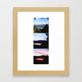 Hood Canal at a Glance Framed Art Print