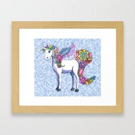 Madeline the Magic Unicorn 2 Framed Art Print