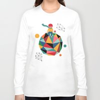 lonely Long Sleeve T-shirts featuring Lonely planet by Andy Westface