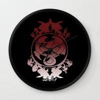 thundercats Wall Clocks featuring Battle For Third Earth by Vitalitee