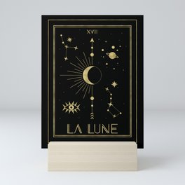 The Moon or La Lune Gold Edition Mini Art Print