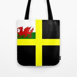 Flag of Saint David Tote Bag