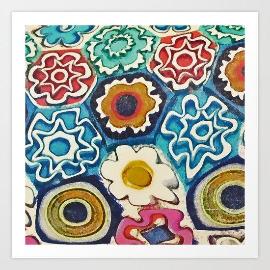 Murano Flowers Art Print