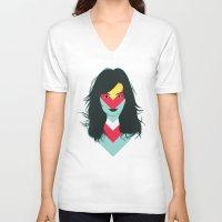 bjork V-neck T-shirts featuring BJORK by Mamut