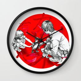 Japanese flag Wall Clock
