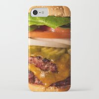 burger iPhone & iPod Cases featuring Burger by Jason Morrow