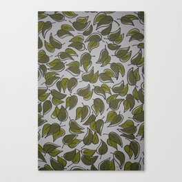 Leaves - Pattern Design - Wild Veda Canvas Print