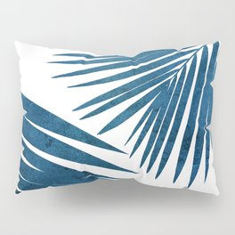 Indigo Palm Fronds Pillow Sham