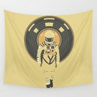 dj Wall Tapestries featuring DJ HAL 9000 by Robert Farkas