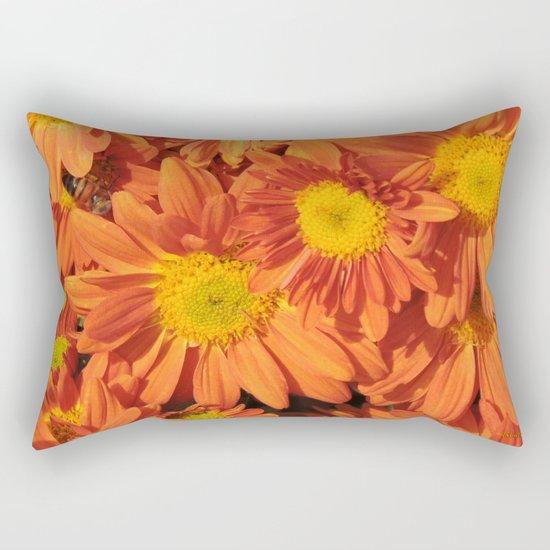 Petals a L'orange Rectangular Pillow