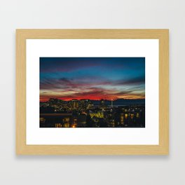 Seattle Sunset Framed Art Print