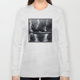 Black and White Feather   Feathers   Spiritual   Nadia Bonello   Canada Long Sleeve T-shirt