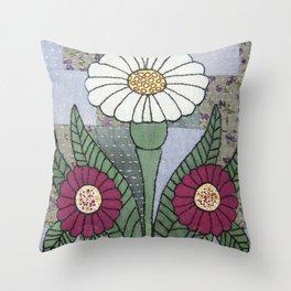 Woodland Flowers 3 Throw Pillow