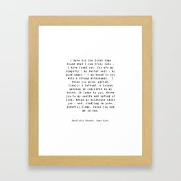 Jane Eyre Quote Framed Art Print