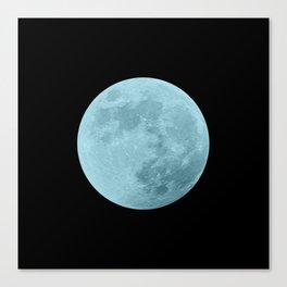 BLUE MOON // BLACK SKY Canvas Print