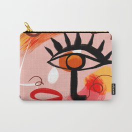 Face Blush Pink Abstract Carry-All Pouch
