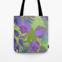 hawaiian Tote Bags featuring Hawaiian Purple by ALLY COXON