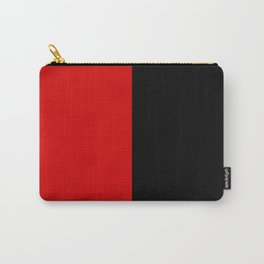 Psychedelic black and red stripes VII. Carry-All Pouch