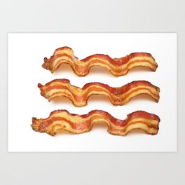Bacon Strips Art Print