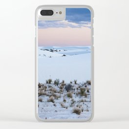 Pink Sky and White Sands Clear iPhone Case