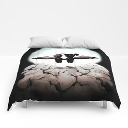 The World Comes Crashing Down Comforters