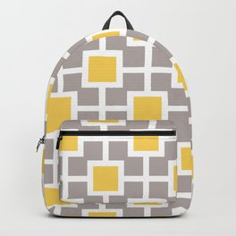Classic Hollywood Regency Pattern 221 Gray and Yellow Backpack