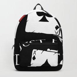 poker t-shirt gift for poker player men Backpack