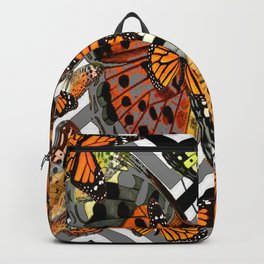 MODERN BUTTERFLY ORANGE-YELLOW  ART Backpack