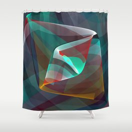 Visual impact, modern fractal abstract Shower Curtain