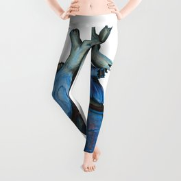 Blue Heart Leggings