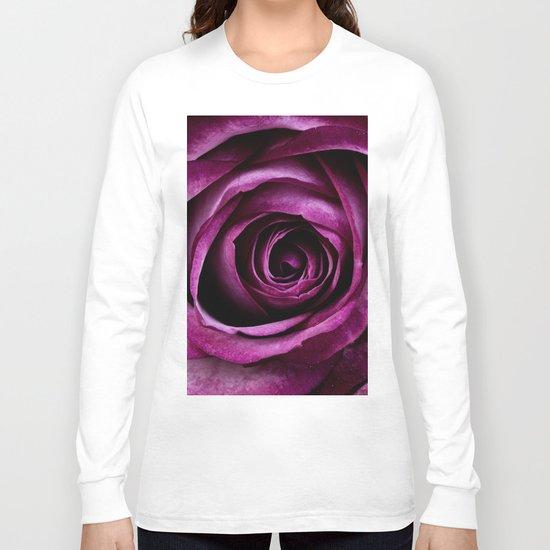 rose mauve plant 5 Long Sleeve T-shirt