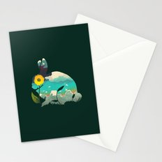 Rabbit Sky - (Forest Green) Stationery Cards