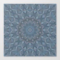 Steel Blue Mandala Canvas Print
