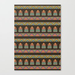 Traditional African Tribal Pottery Pattern Canvas Print