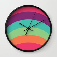70s Wall Clocks featuring 70s Flair by Daniel Bevis