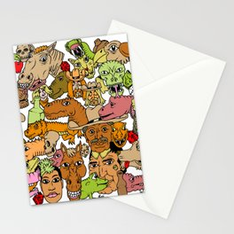 Colored Western Roundup Stationery Cards