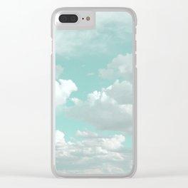 Clouds in a Mint Sky Clear iPhone Case