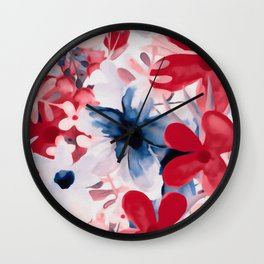 Berry Blooms Wall Clock