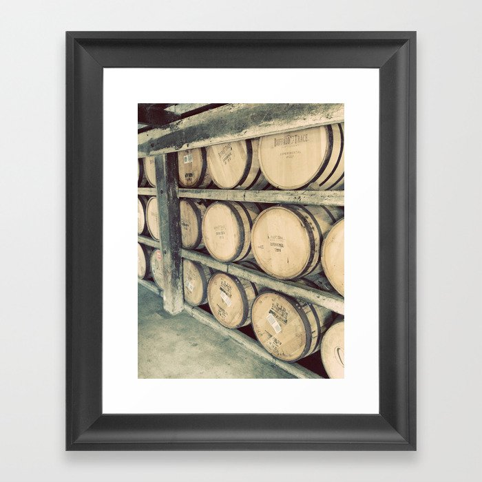 Kentucky Bourbon Barrels Color Photo Gerahmter Kunstdruck