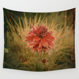 Hand painted vintage flower Wall Tapestry