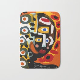 African Woman is dreaming in the sunrise Bath Mat