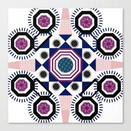 Mixed Emotions Mandala Canvas Print