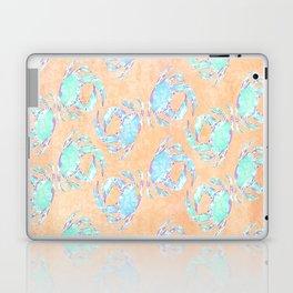 Crab orange blue nautical Laptop & iPad Skin