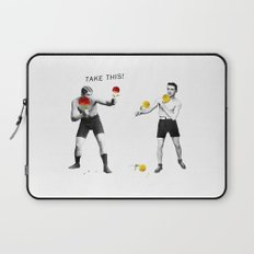 Floral fight - humor Laptop Sleeve