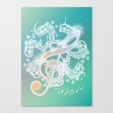 Music Notes - Crystal Canvas Print