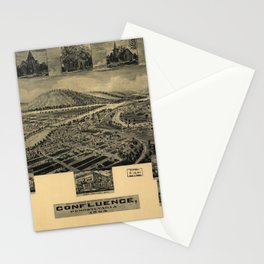 Aerial View of Confluence, Pennsylvania (1905) Stationery Cards