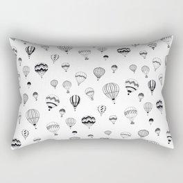 Hand-drawn 'Hot Air Balloon' design Rectangular Pillow