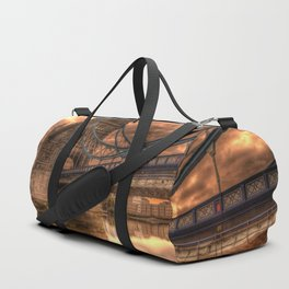 Photo of a gloomy English bridge Duffle Bag